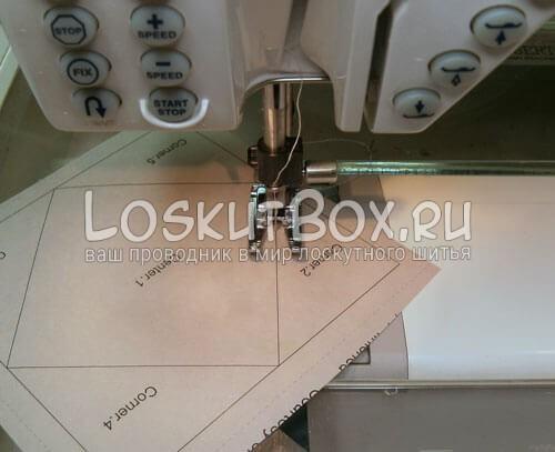 пришивание углов по бумаге сломаное колесо