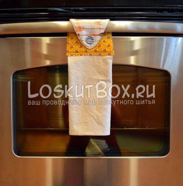 Кухонное полотенце в стиле пэчворк