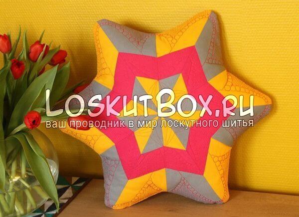 foto-41 Цветочные пэчворк подушки своими руками схемы