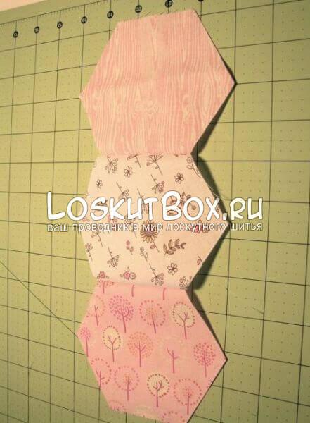 колонка лоскутных шестиугольников