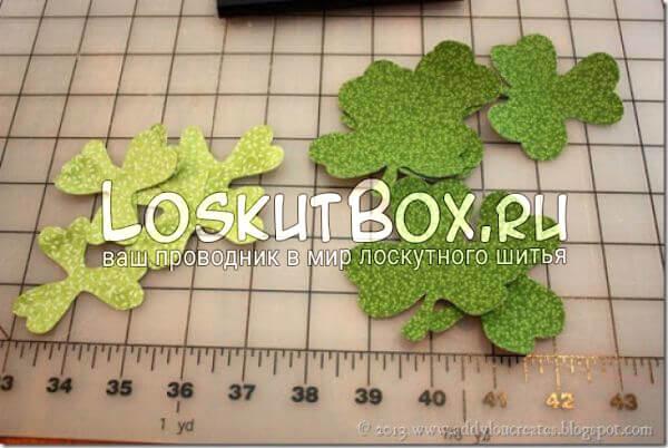 Готовые листья клевера