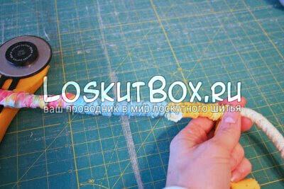 обвитие каната тканевой лентой