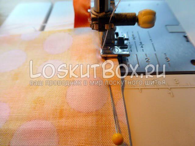 На швейной машинке - лоскутное шитье