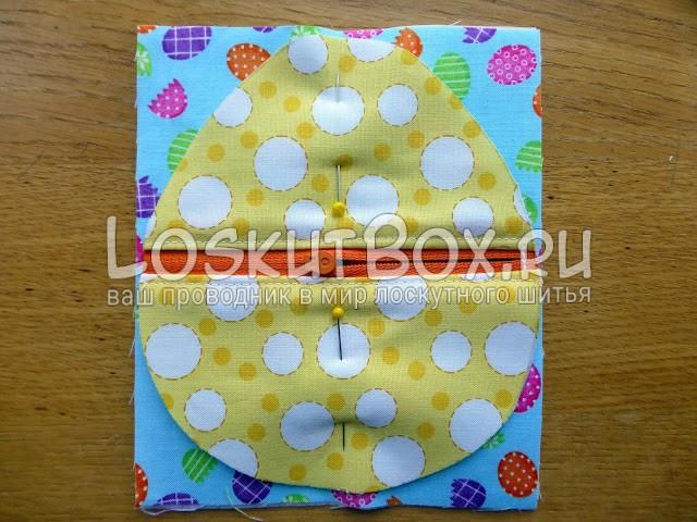 лоскутное шитье пасхальной сумочки